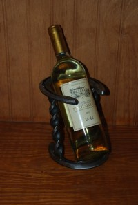 Horseshoe Wine Bottle Holder by FreedomFarrierCo on Etsy
