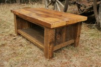 Stunning Rustic Barnwood Coffee Table 13 Photos - Tierra ...
