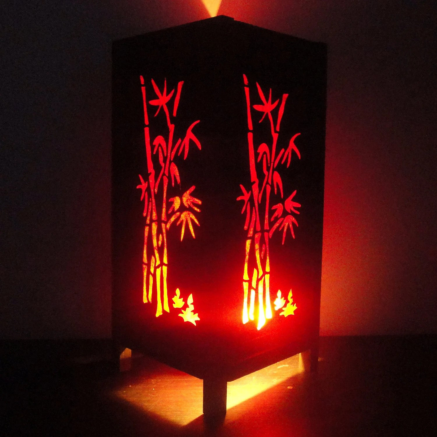 Japanische Lampenschirme Asian Oriental Red Bamboo Japanese Lamp Zen Bedside Lamp Floor