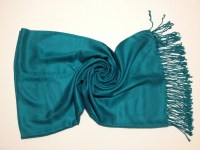 Teal Pashmina Pashmina Scarf Shawl Wrap Fashion by ...