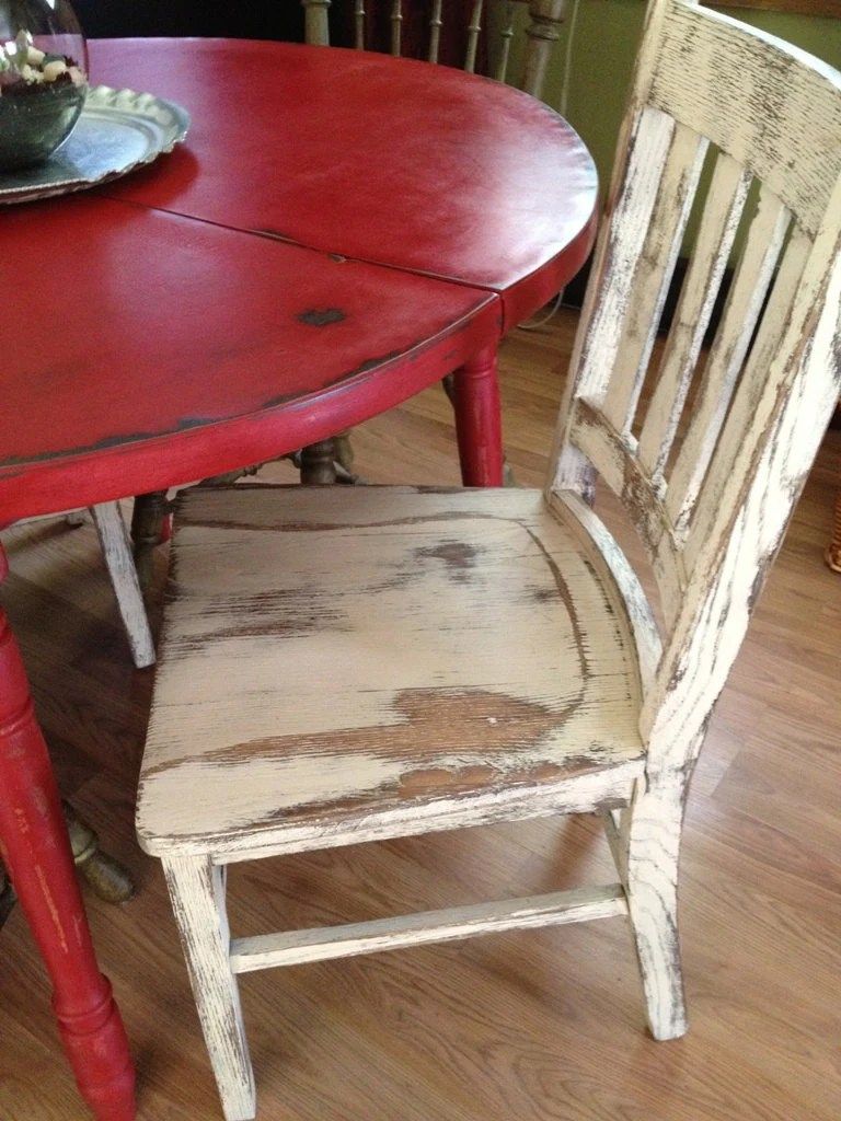 white and red kitchen table white distressed kitchen table Distressed