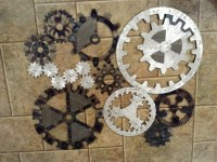 Wall Decor Gears | Simple Home Decoration
