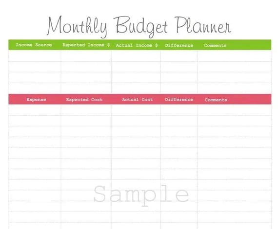 Items similar to Monthly Budget Planner - PDF Printable on Etsy - free printable budget planner