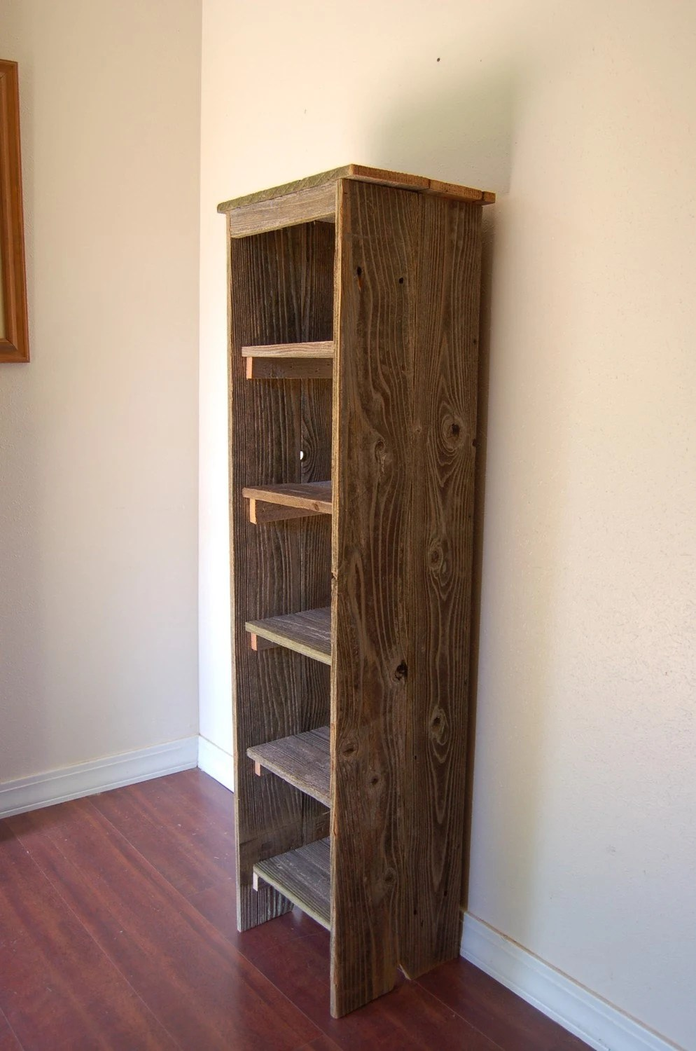 Wooden Bookcase Tall Bookcase Skinny Bookcase Skinny Shelf