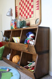 Toy Storage Bins Woodworking Plans