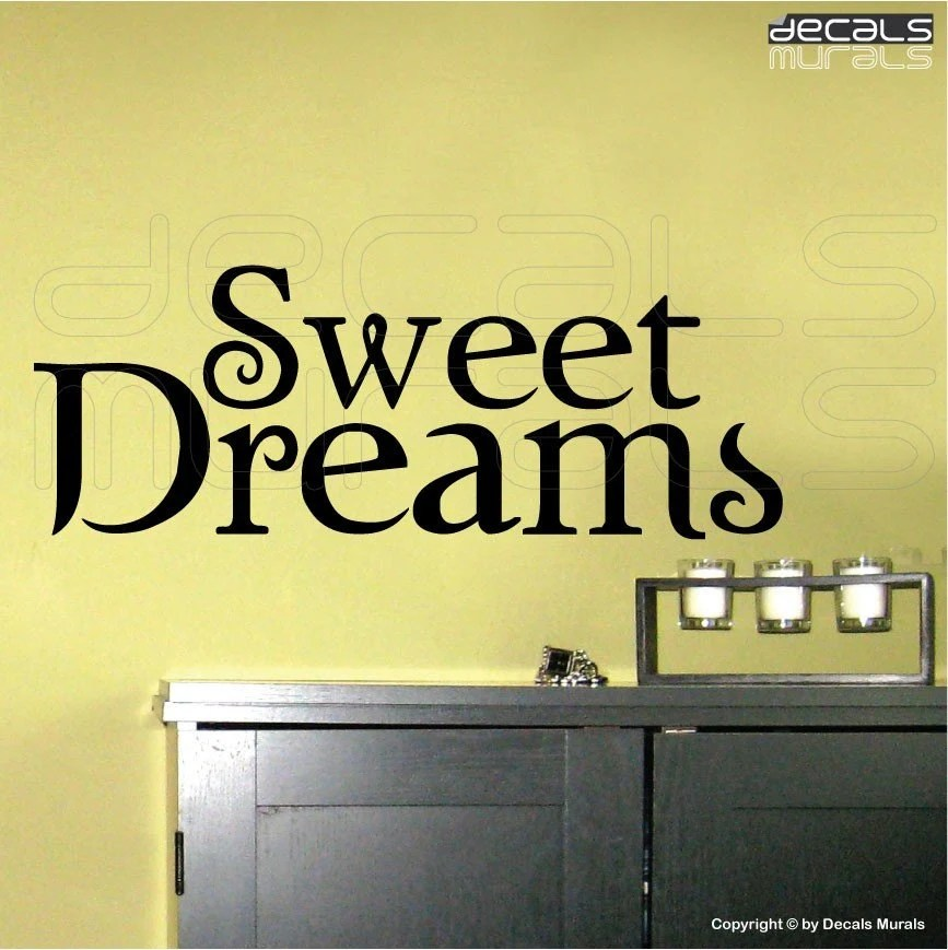 Wall Decals Sweet Dreams Surface Graphics Interior Decor By