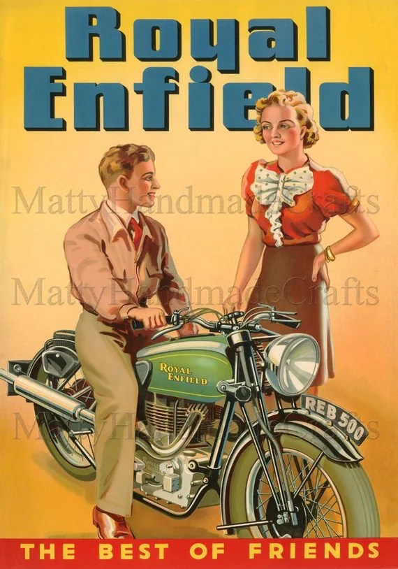 Bullet 350 Hd Wallpaper Royal Enfield Bullet 500 Advertising 1930s Print