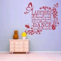 Ladybugs wall decal Ladybugs all Dressed in Red Nursery