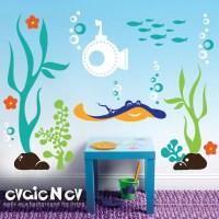 Underwater Wall Decals Fish Wall Sticker Underwater by ...