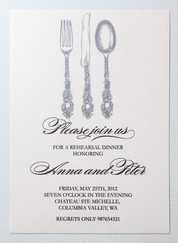 Printable rehearsal dinner invitation - dinner invitation template free