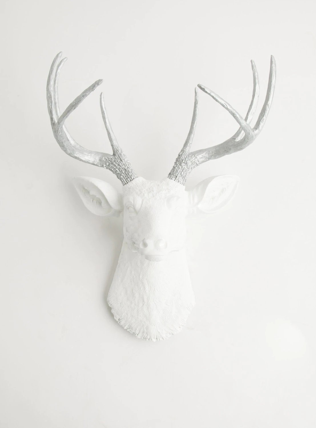 White Porcelain Deer Head Deer Head Wall Mount The Frankfurt By White Faux Taxidermy