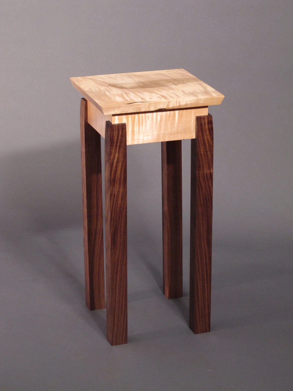 Unusual Accent Tables Accent Table Small End Table Handmade Custom Wood Furniture