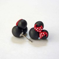Minnie Mouse inspired Earrings Hypoallergenic by ...