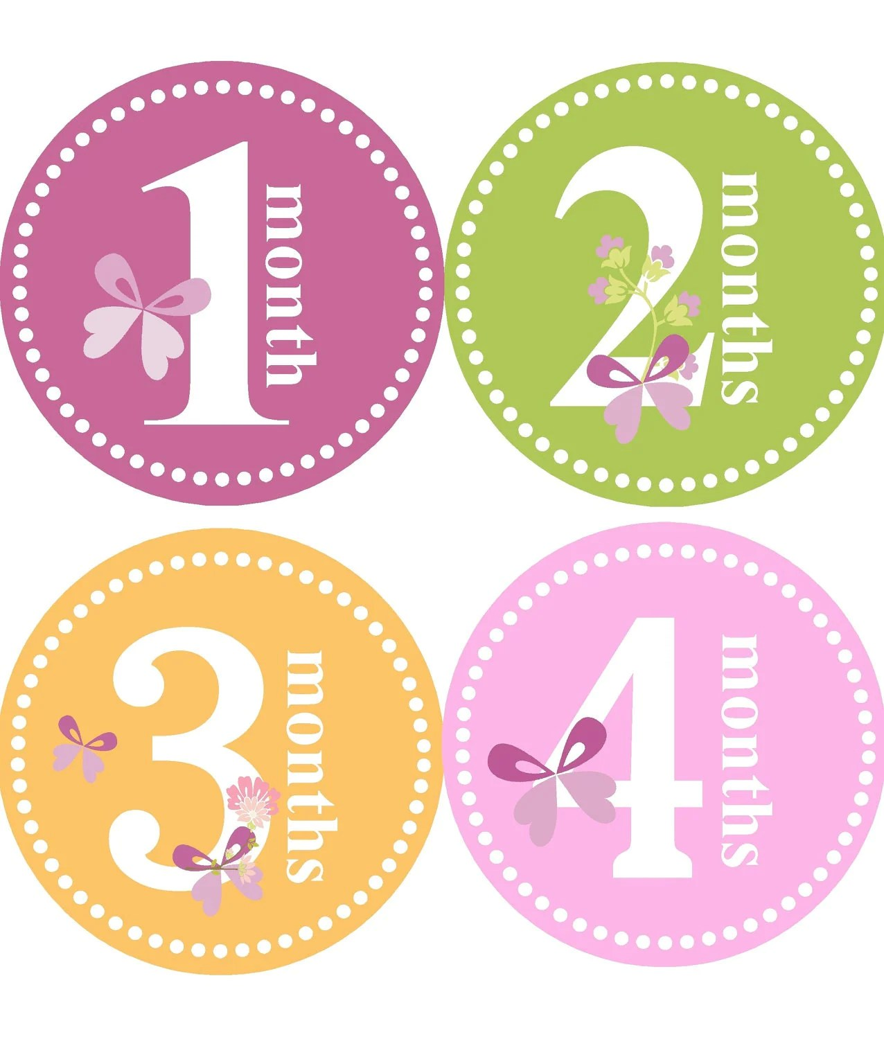 Feliz Cumple Mes Para Bebes Monthly Baby Stickers For Girl Girl Monthly Stickers One To