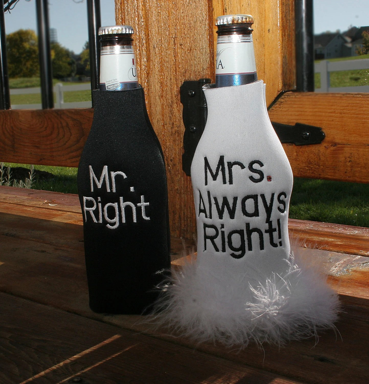 Mr Right Mrs Always Right Bettwäsche Mr Right And Mrs Always Right Bottle Cooler Set