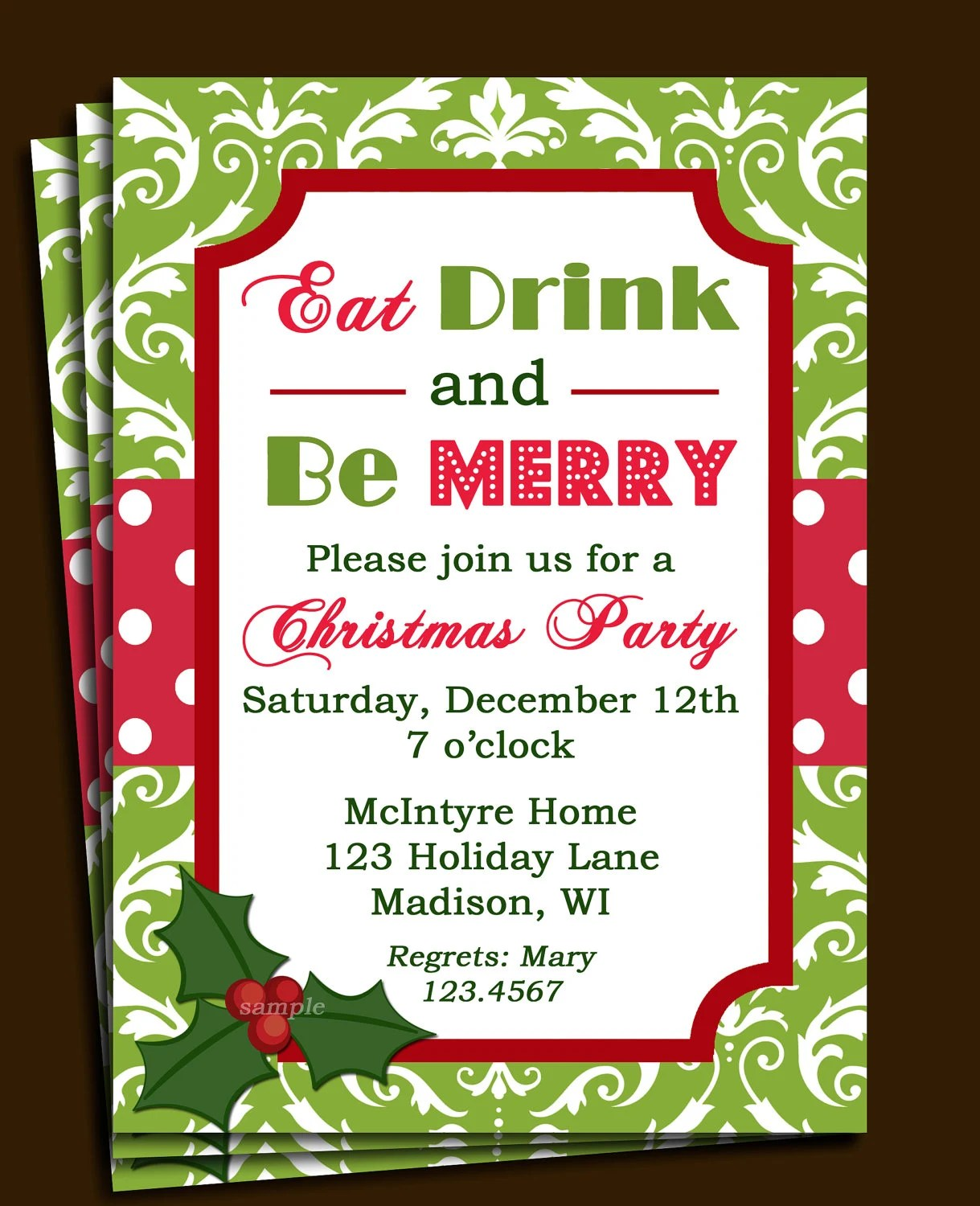 Corporate Christmas Party Invitation Templates – Company Christmas Party Invitations