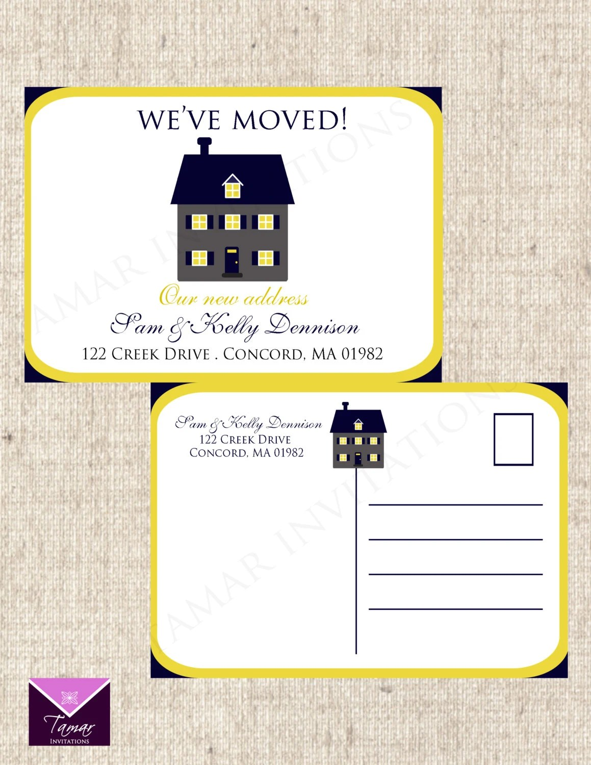 PRINTABLE We have Moved Change of Address Postcards