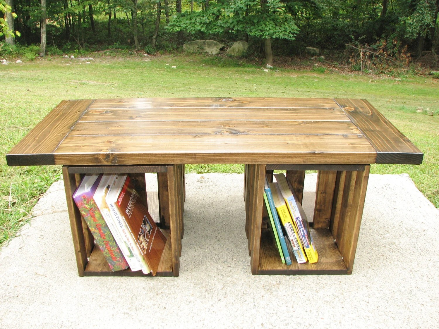 Farmhouse Coffee Table Etsy Coffee Table Rustic Crate Storage Country By