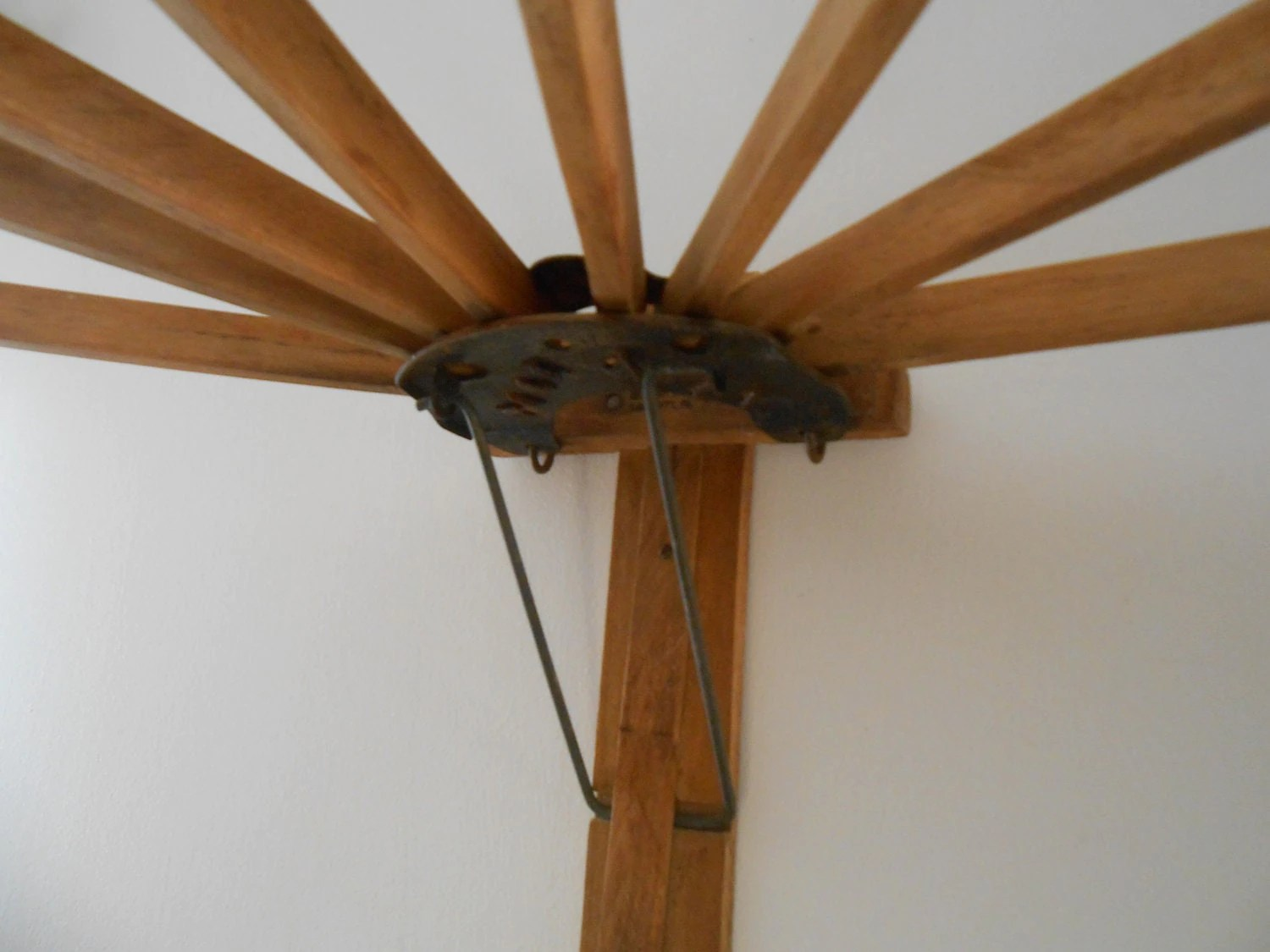 Antique Wooden Wall Mounted Drying Rack