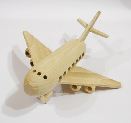Wooden Airplane Ride On Toy