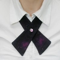 Womens Neck Tie Galaxy Magenta by flappergirl on Etsy