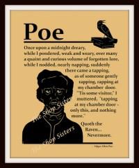 Items similar to Edgar Allan Poe Raven Poem Silhouette ...