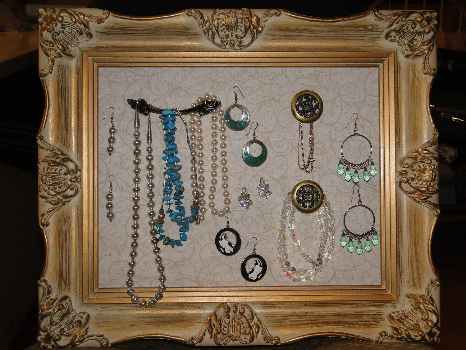 Schmuck Bilderrahmen Picture Frame Jewelry Holder / Organizer By Projectpinterest