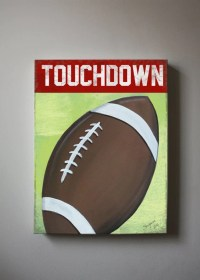 Football Canvas Wall Art Sports Nursery Art Baby Boys Room