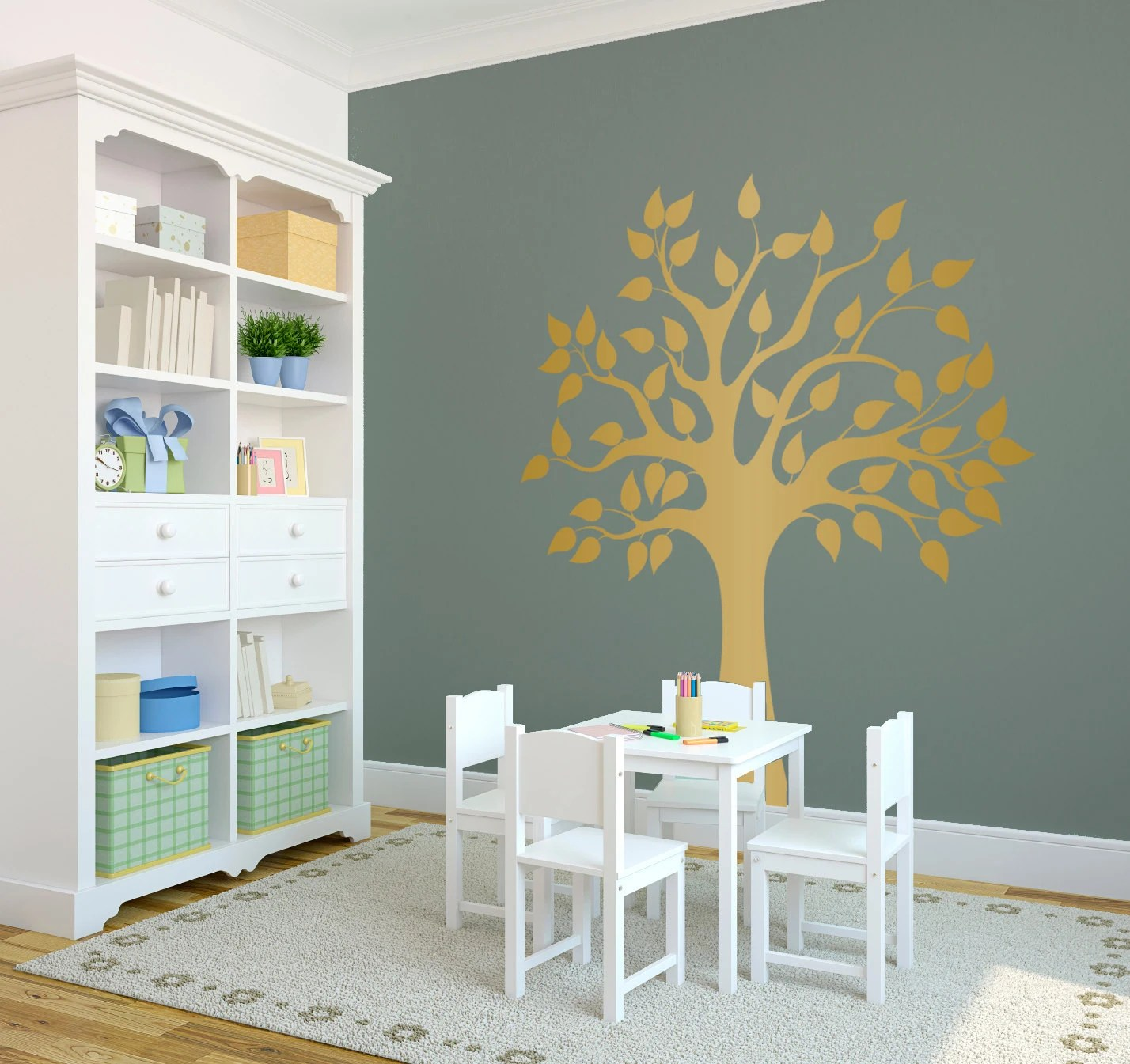 Modern Vinyl Wall Art Modern Nature Tree Wall Decal Custom Vinyl Art Stickers
