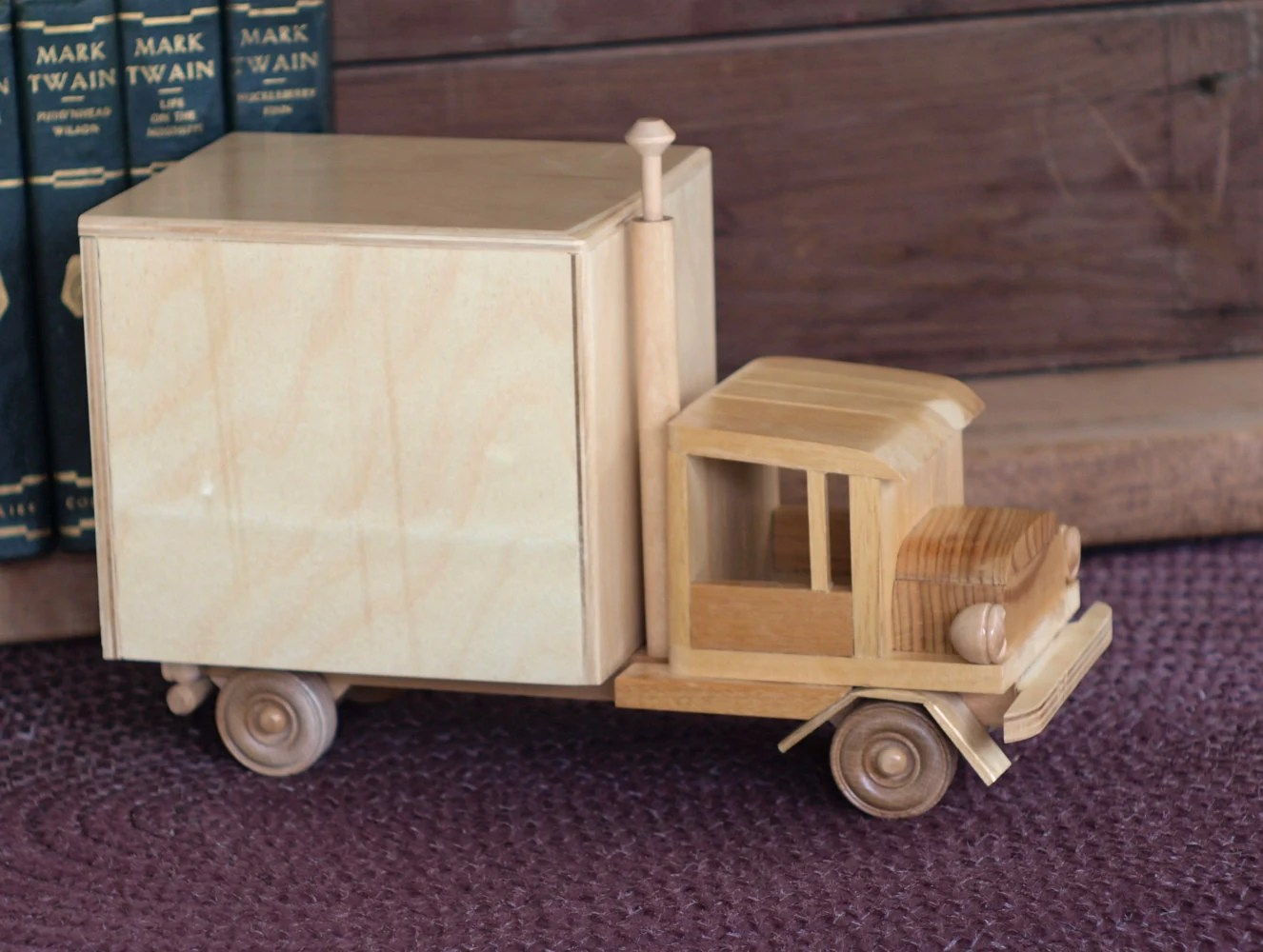 Toy Moving Truck Wooden Kids Toy Moving Truck Van Wood Children By