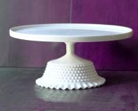 14 Ceramic Cake Stand / Cake Plate Pedestal / White Cake