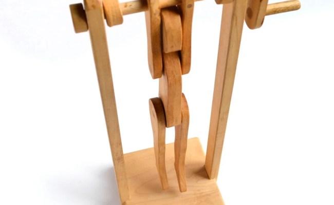 Handmade Vintage Wood Wooden Toy Acrobat By Elizabethrosenart