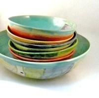 Handmade Pasta Bowl Set Pasta dishes Serving bowl Ceramics