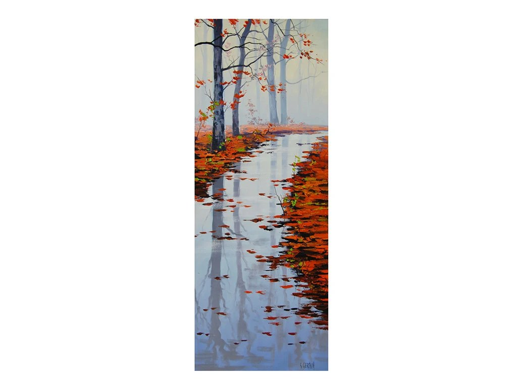 Large Vertical Paintings Large Vertical Autumn Painting River Fall Impressionist