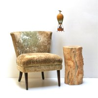 Tree Stump Nightstand End Side Table Stool Seat Organic