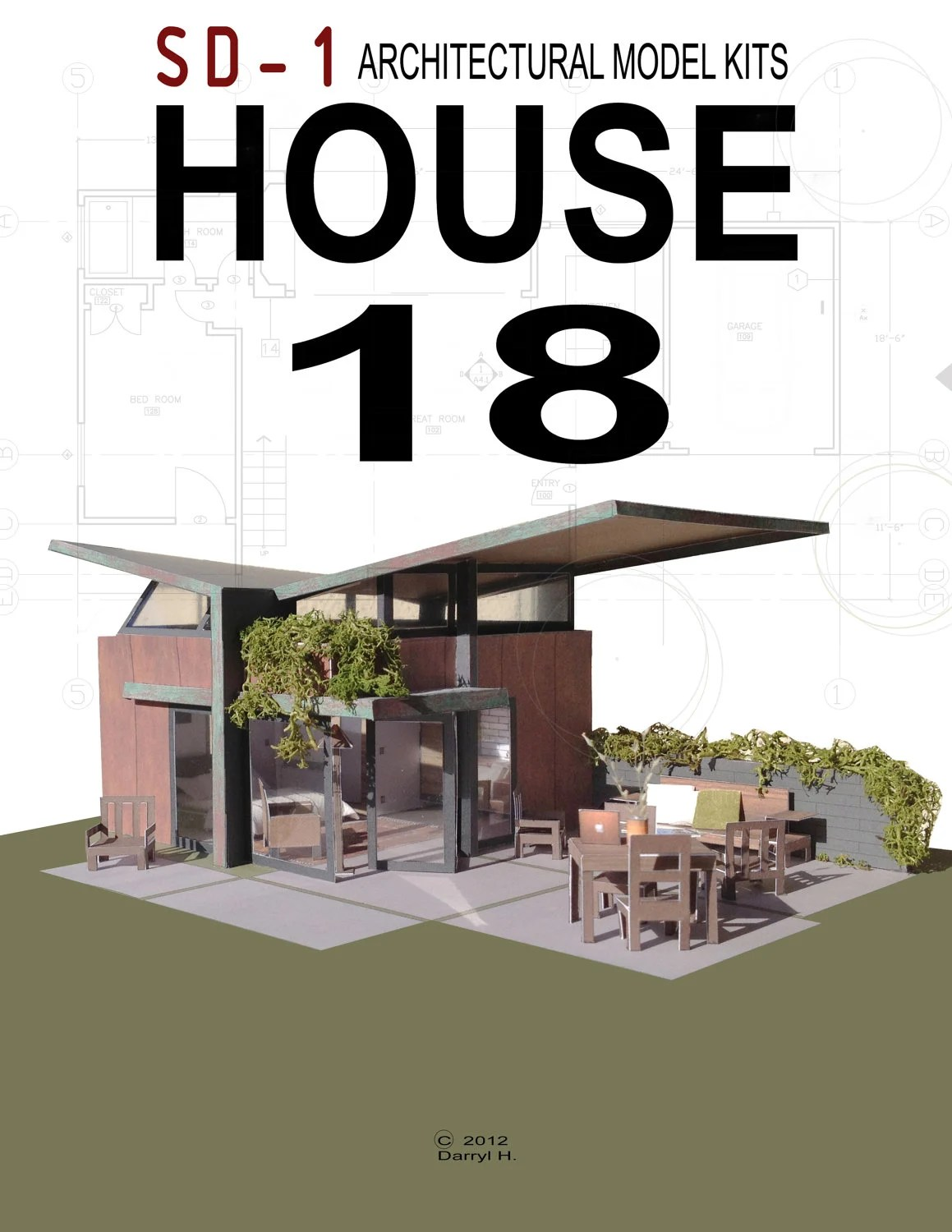 Architectural Model Kits House 18 Architectural Model Kit By Sdarchitect On Etsy