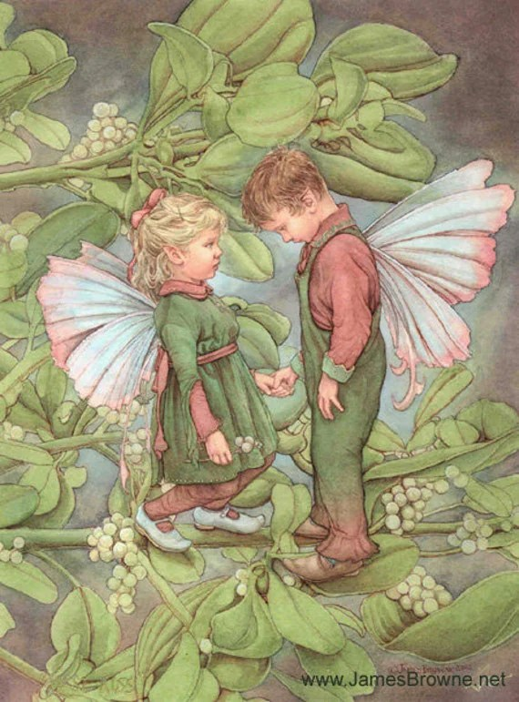 Mystical Creatures In The Fall Wallpaper First Kiss Boy And Girl Fairy Greeting Card