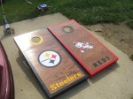 Items Similar To Pittsburgh Steelers Cornhole Boards And Bags