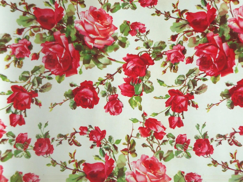 Vintage Roses Shelf Liner Paper Floral Flowers By Iwantvintage