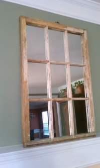 Decorative Wood Window Pane Window Sash Mirror