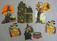 Vintage Halloween Decorations WITCHES