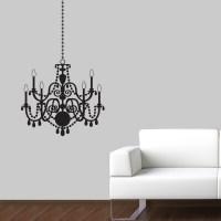 chandelier wall decal | Roselawnlutheran
