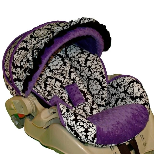 Baby Car Seat Replacement Covers Custom Replacement Baby Car Seat Cover Dandy Damask Purple