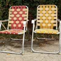 Two High Back Webbed Lawn Chairs by LOOKINGforYESTERDAY on ...