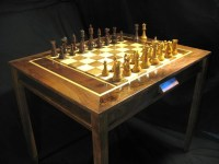 Chess set Handmade Chess Table and Staunton by ...