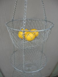 Metal Wire Hanging Basket Mesh Hanging by GodSaveStrawberryJam