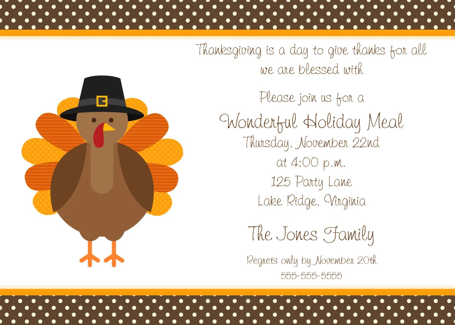 free printable thanksgiving invitation template - Free Printable Dinner Party Invitations