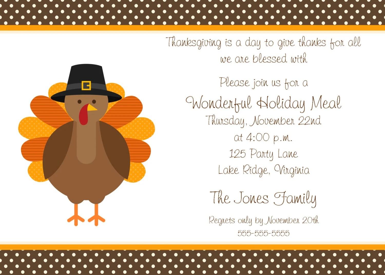 free printable thanksgiving invitation template - Free Printable Dinner Party Invitations