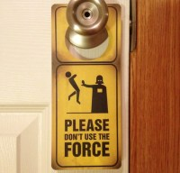 Star Wars Jedi Force Door Sign and Dry Erase Board by ...