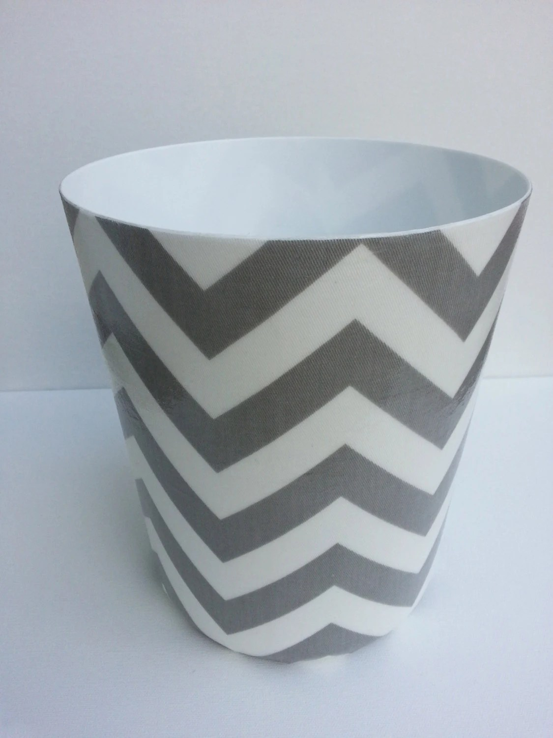 Cool Wastebaskets Chevron Wastebasket Trash Can Your Choice Of By